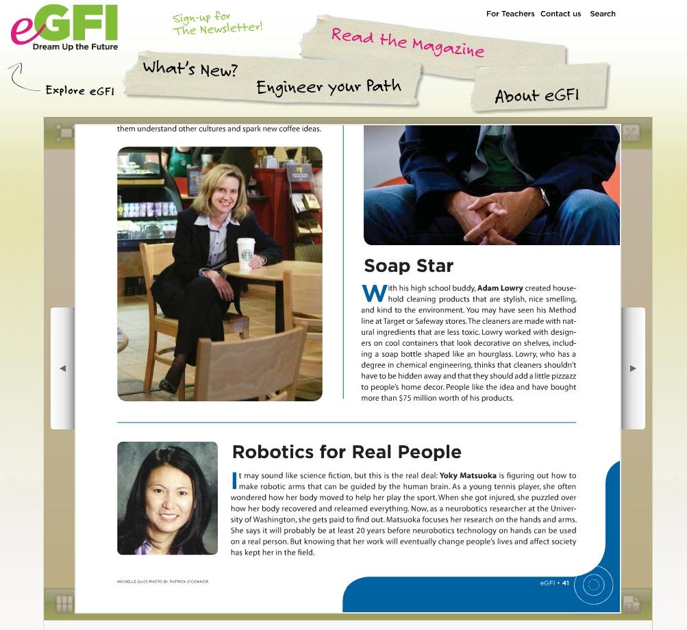Yoky Matsuoka in eGFI