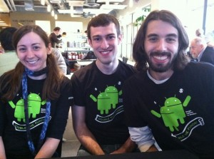 UW CSE alums Krista Davis, Jeff Prouty, and Jessan Hutchinson-Quillian - part of the G-Give team