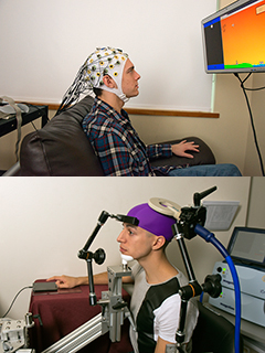 Subjects demonstrating brain-to-brain communication