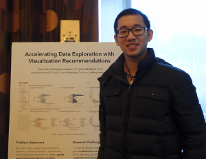 "Kanit ""Ham"" Wongsuphasawat presents a poster on UW's Interactive Data Lab"
