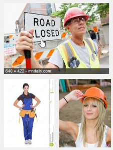 Female construction worker images