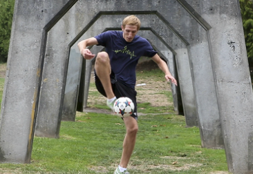Cory Black with soccer ball