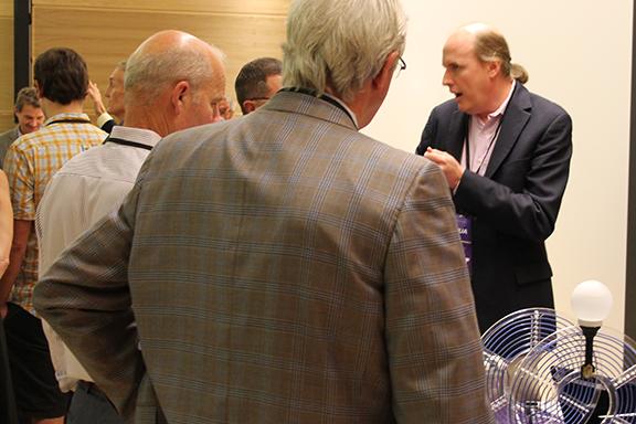 Josh Smith with UW Foundation board members