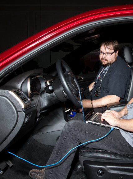 Karl Koscher hacking a car