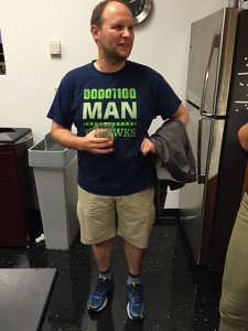 Zach Tatlock wearing shoes