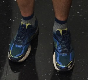 Closeup of Zach Tatlock's shoes and socks