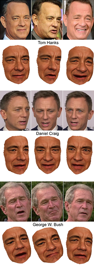 Tom Hanks digital puppetry with Daniel Craig and George W Bush