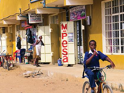 M-Pesa agent in Africa