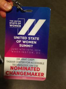 United States of Women Summit badge