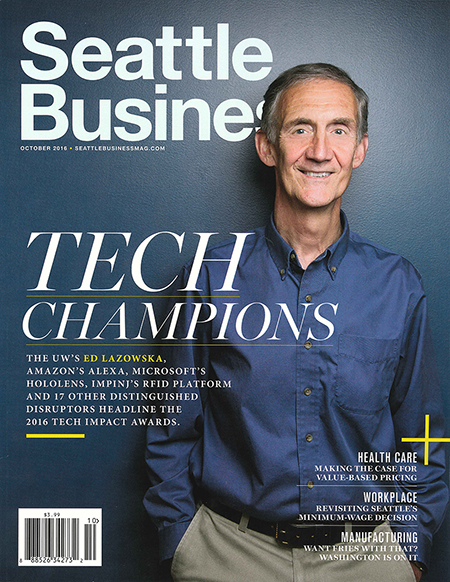 Seattle Business cover featuring Ed Lazowska