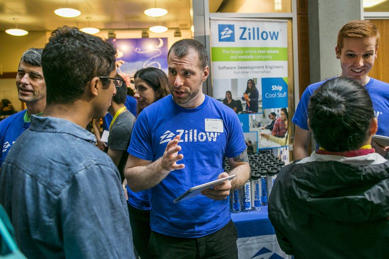 Zillow recruiters talk to students at UW CSE