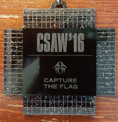CSAW '16 Capture the Flag badge