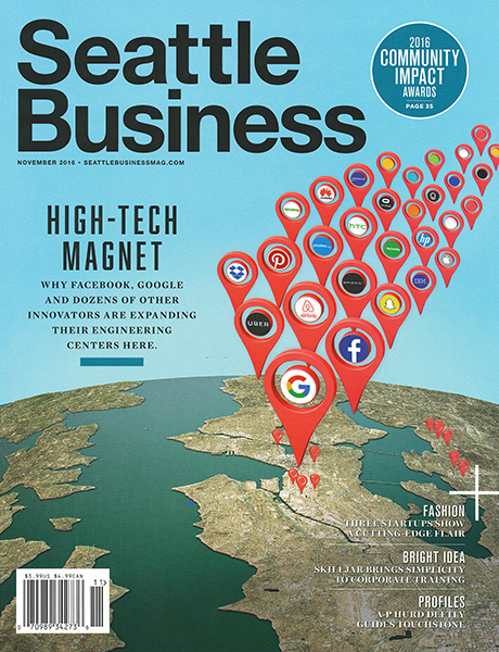 November 2016 cover of Seattle Business magazine
