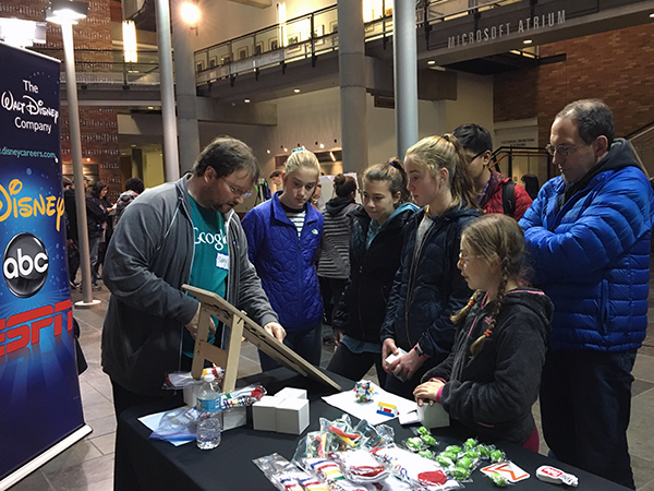 Industry representatives talked to students about computer science careers at the 2016 Computing Open House