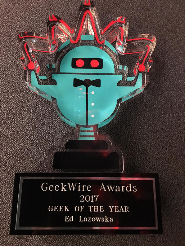 Geek of the Year trophy
