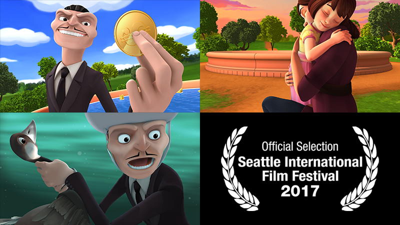 "Stills from ""Short Changed"" and SIFF Official Selection laurel"