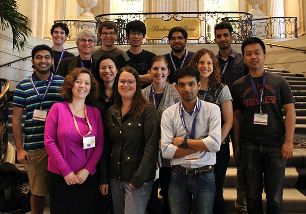 Group photo of UW Allen School at SIGMOD 2017