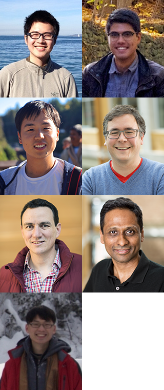 Portraits of researchers who developed the TVM framework
