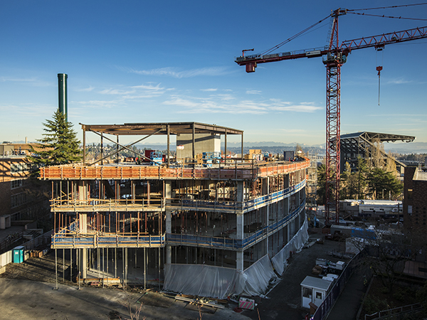Construction site of the Bill & Melinda Gates Center