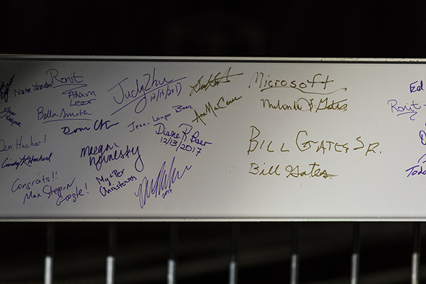Beam showing signatures