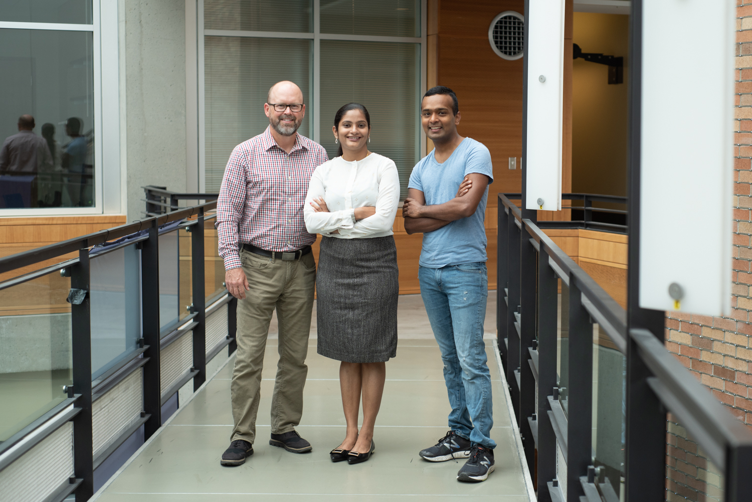 Left to right: Nate Watson, Rajalakshmi Nandakumar, and Shyam Gollakota