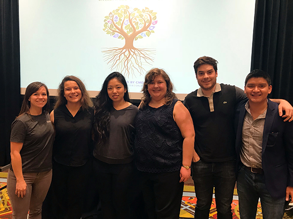 The author with student participants at the 2018 Tapia conference