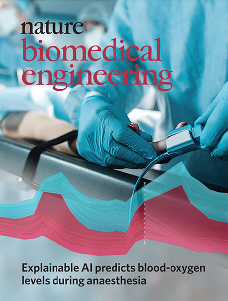 Cover of Nature Biomedical Engineering featuring Prescience