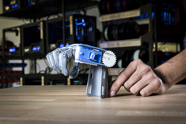 A 3D-printed e-NABLE prosthetic arm