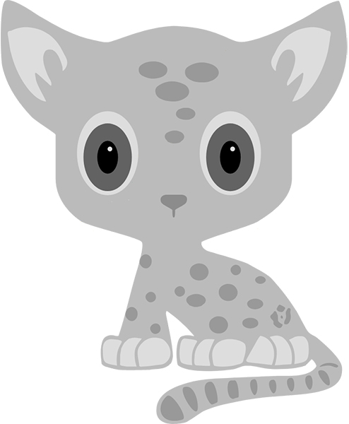 grey spotted cat logo