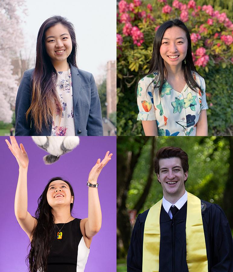 Portraits of Angela Eun, Jenny Liang, Murathan Sarayli, Savanna Yee