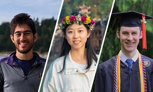 Portraits of Skyler Hallinan, Joy He-Yueya, Parker Ruth