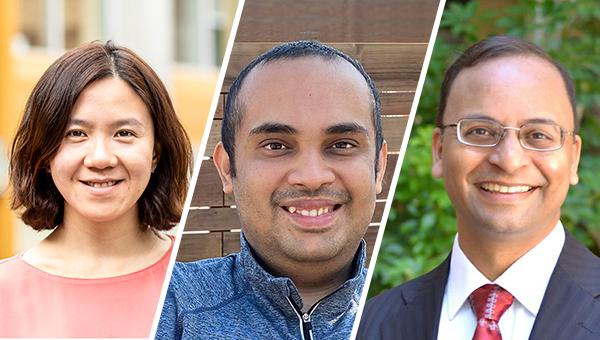 Portraits of Rachel Lin, Aayush Jain, and Amit Sahai